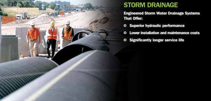 retention aid and drainage system